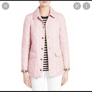 Burberry pink quilted coat size M